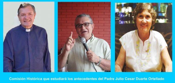 Eligen Comisión Histórica que estudiará los antecedentes del Padre Julio César Duarte Ortellado
